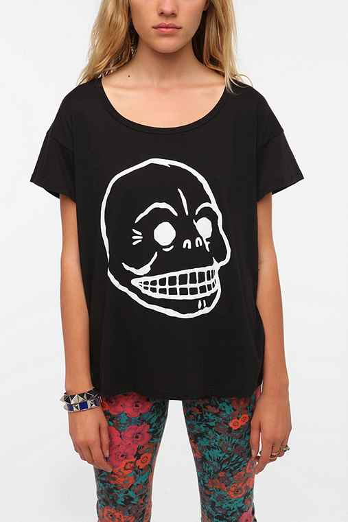 Cheap Monday Lina Printed Skull Tee