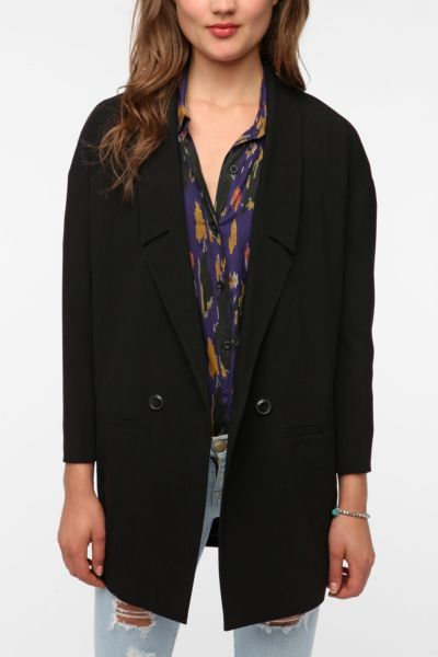Silence & Noise Oversized Double Breasted Blazer