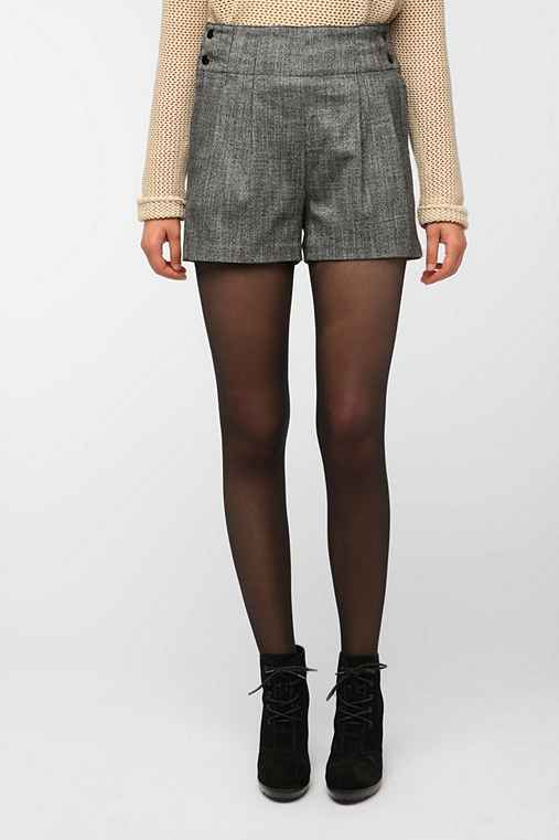 Cooperative High-Rise Pleated Tweed Short