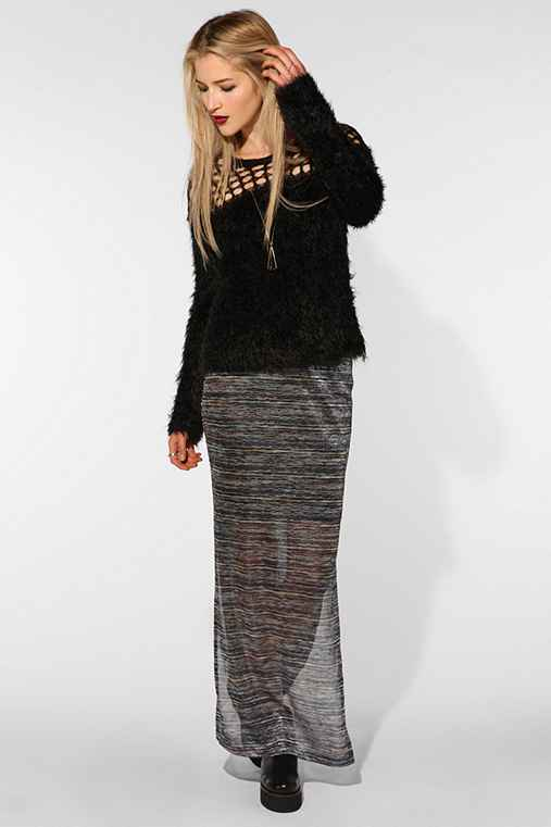Emily Shaw for RISD + UO Textured Knit Maxi Skirt