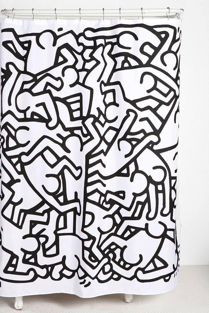Urban outfitters keith haring knee high gladiator sandals - Keith haring shower curtain ...