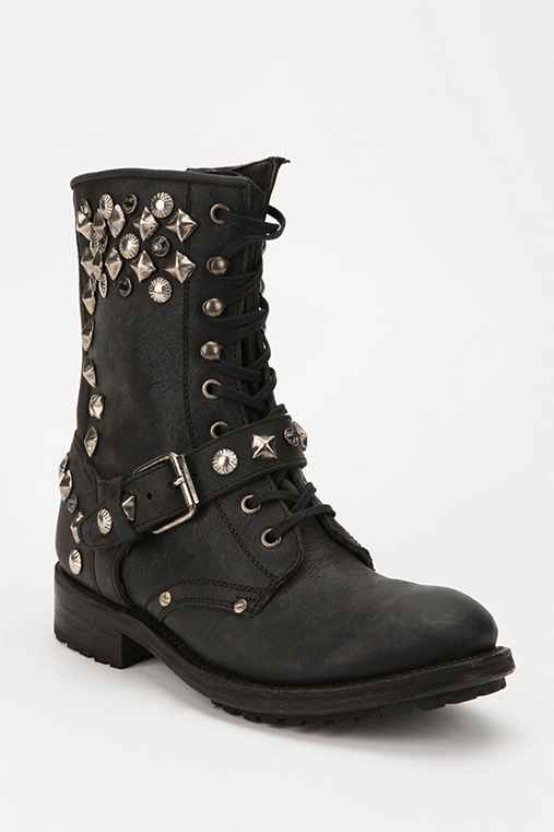 Ash Roxanne Lace-Up Moto Boot