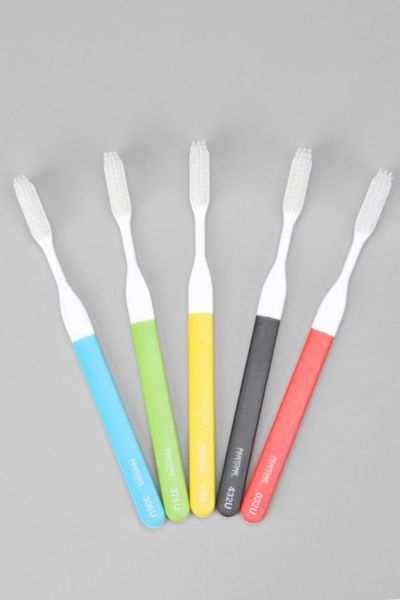 Kikkerland Pantone Toothbrush - Set Of 5