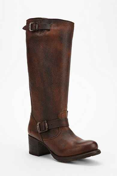 Frye Vera Tall Slouch Moto Boot