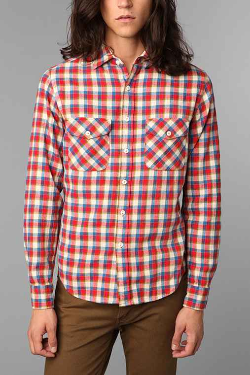 Shades of Grey by Micah Cohen 2-Pocket Plaid Shirt