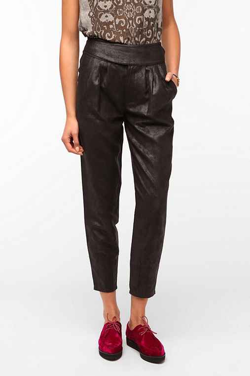 Silence & Noise High-Rise Faux Suede Trouser