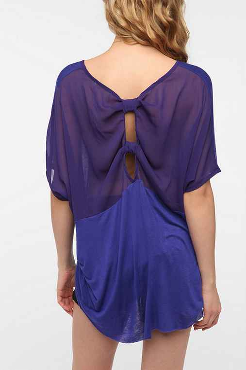 Daydreamer LA Chiffon Back Oversized Tee