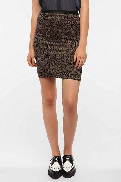 Lucca Couture Printed Knit Pencil Skirt