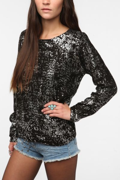 Sparkle & Fade Foil Sweater