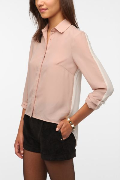 Sparkle & Fade Colorblock Chiffon Blouse