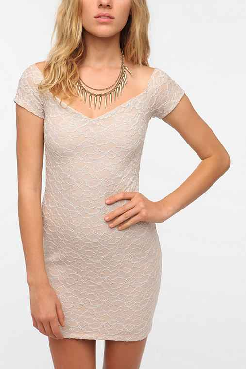 Pins and Needles Knit Lace Bodycon Dress