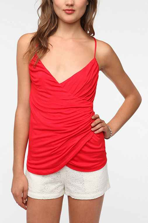 Daydreamer LA Surplice Strappy Tank Top