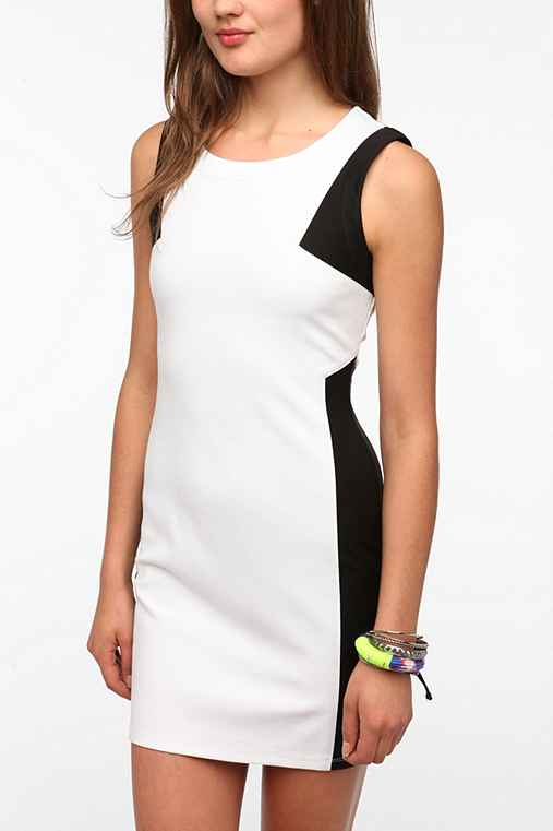 Lucca Couture Ponte Knit Colorblock Dress