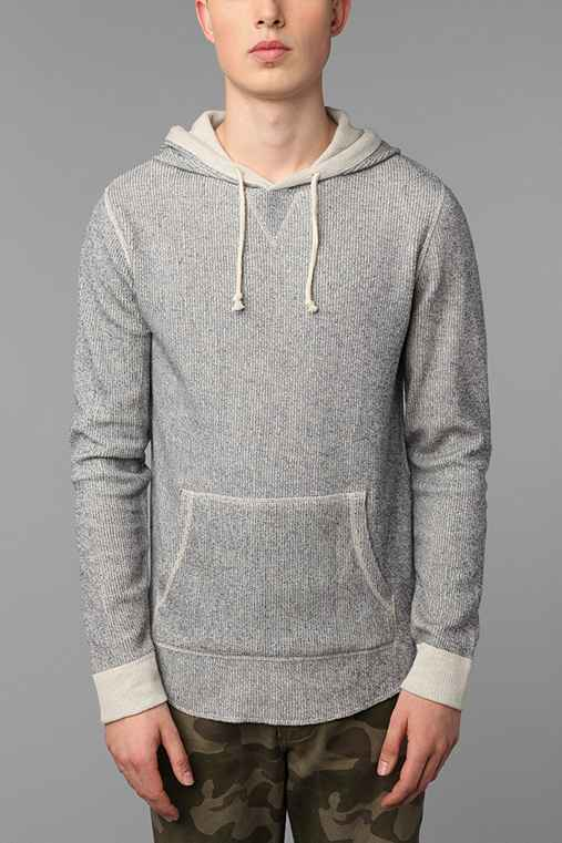 All-Son French Rib Pullover Hooded Sweatshirt