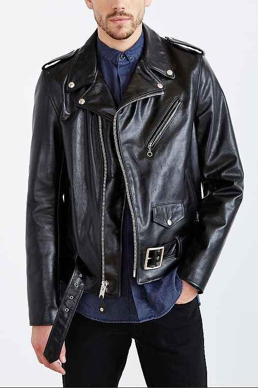 Schott Perfecto Leather Moto Jacket,BLACK,XL