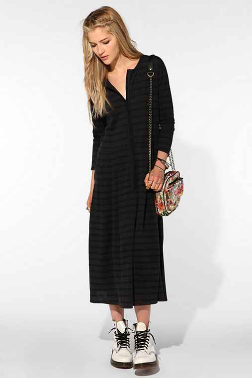 Les Prairies De Paris Novaplanet Striped Maxi Dress