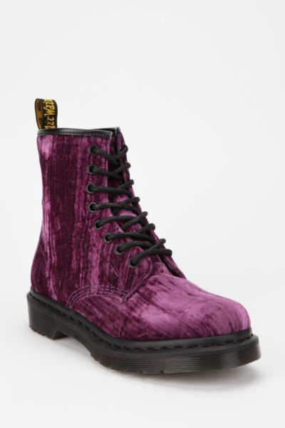 Dr. Martens 8-Eye Crushed Velvet Boot