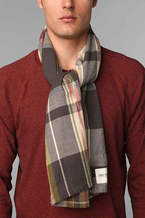 OBEY Heritage Plaid Scarf