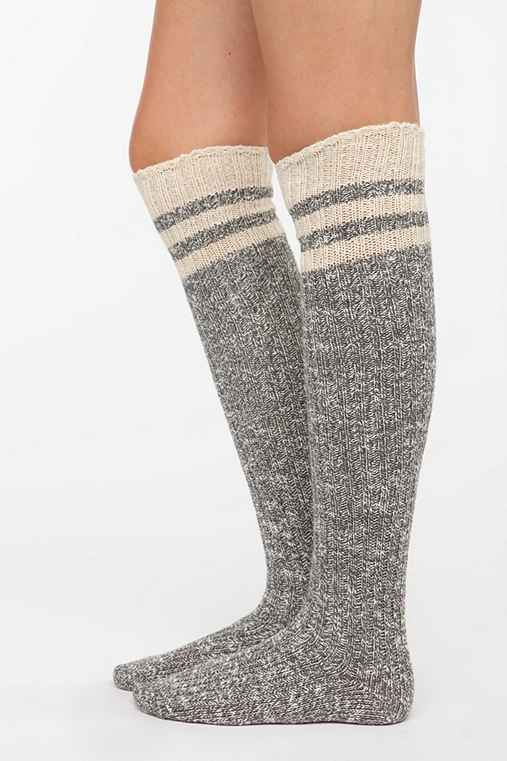Marled Stripe Over-The-Knee Sock