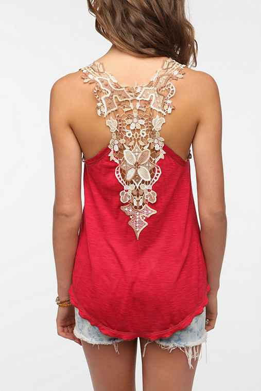 Staring at Stars Crochet Back Tank from urbanoutfitters.com
