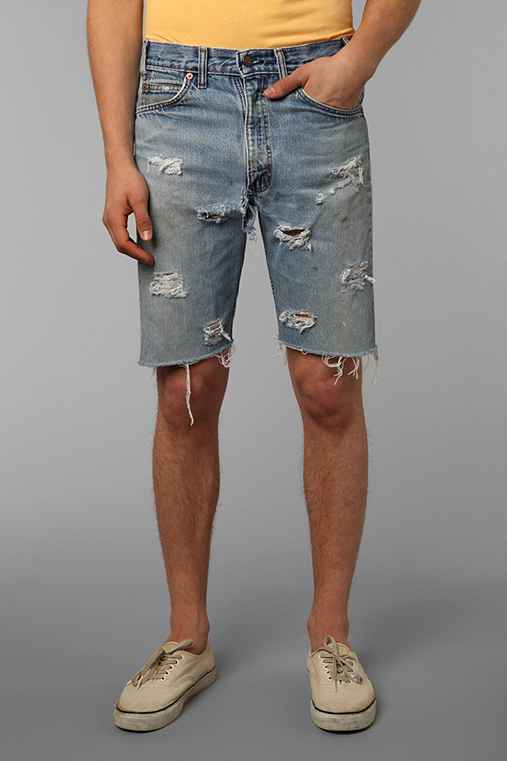 Urban Renewal Destroyed Denim Short