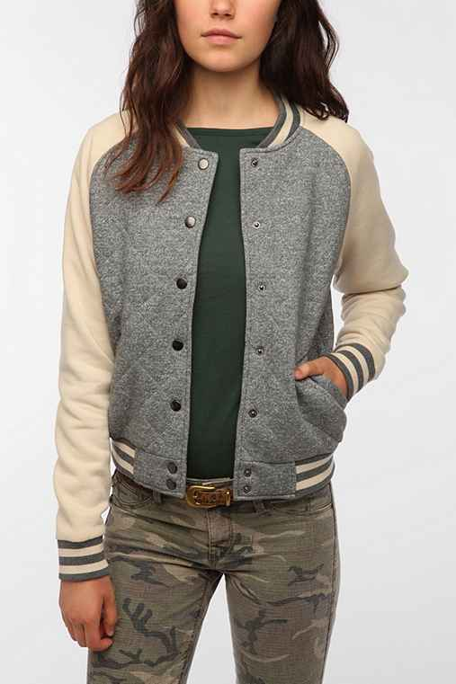 BDG Quilted Varsity Jacket
