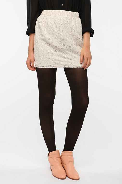Pins and Needles Lace Mini Skirt