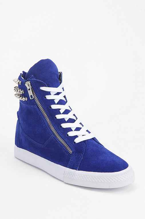 Betsey Johnson Suede Stud High-Top Sneaker