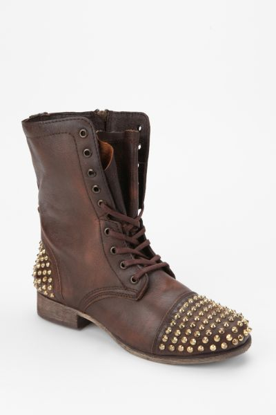 Steve Madden Tarnney Stud Lace-Up Boot