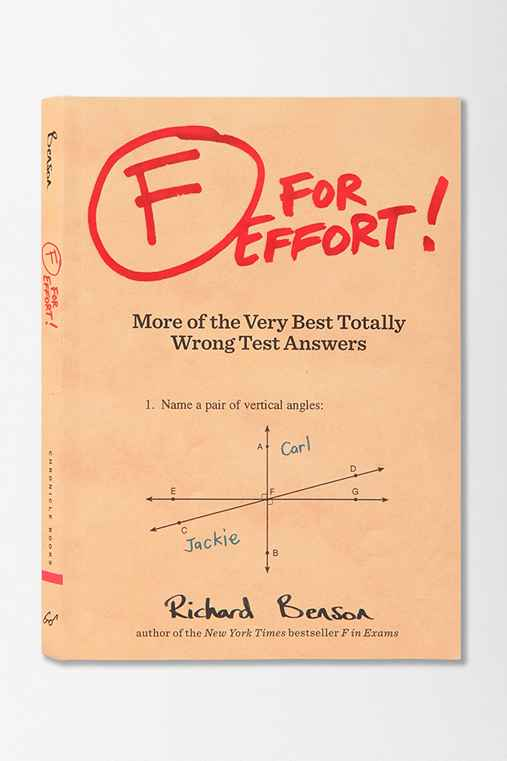 F For Effort By Richard Benson
