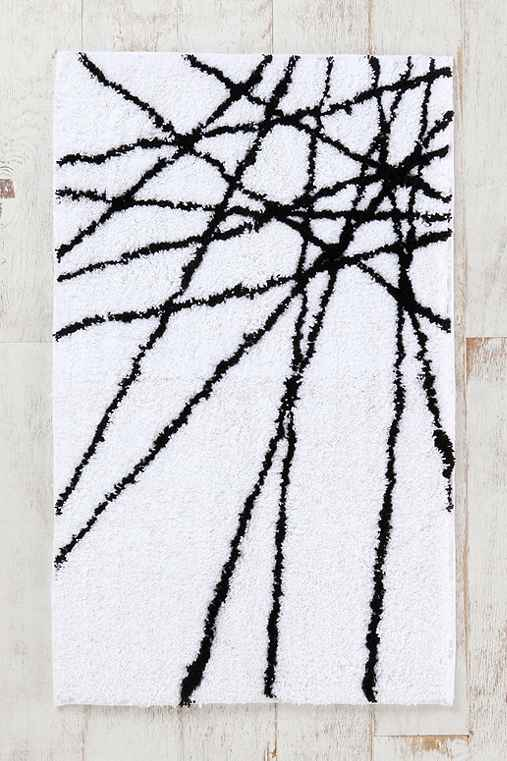 Abstract-Line Bath Mat