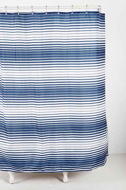 Gradient Stripe Shower Curtain
