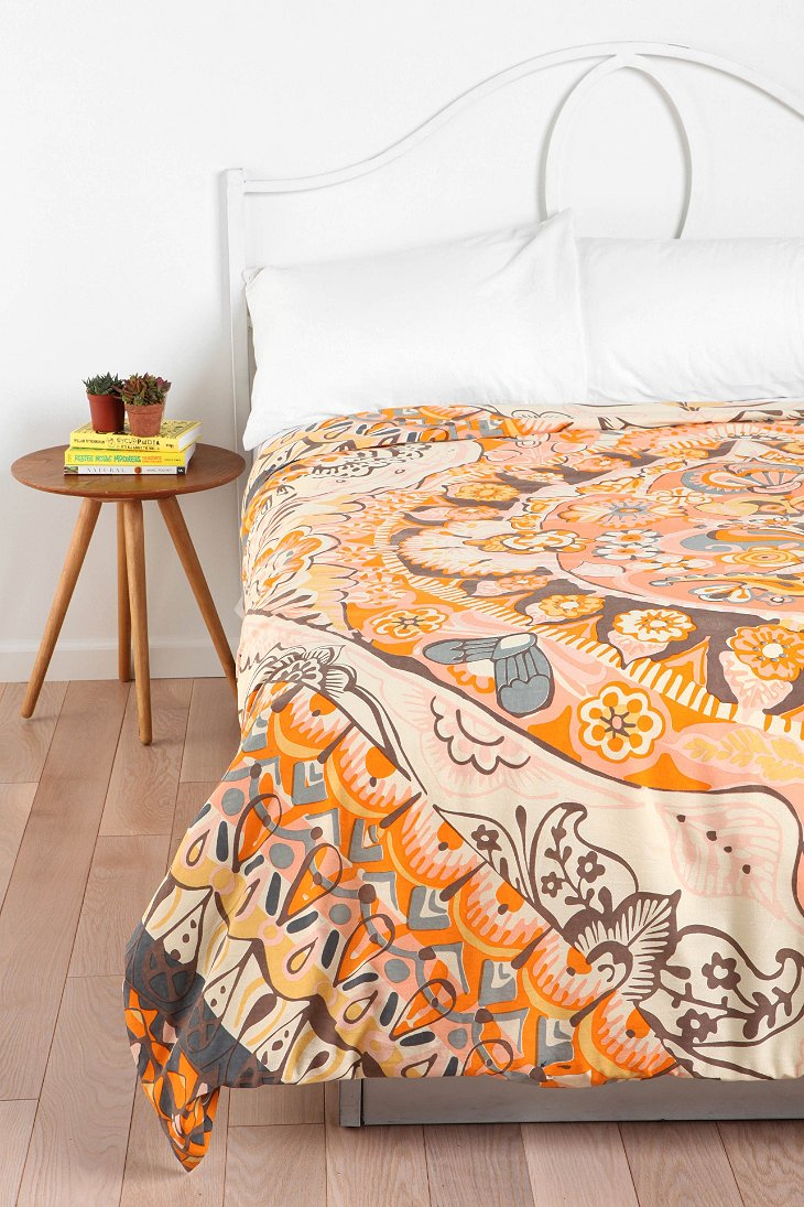 Magical thinking painted mandala duvet cover urban Magical thinking bedding
