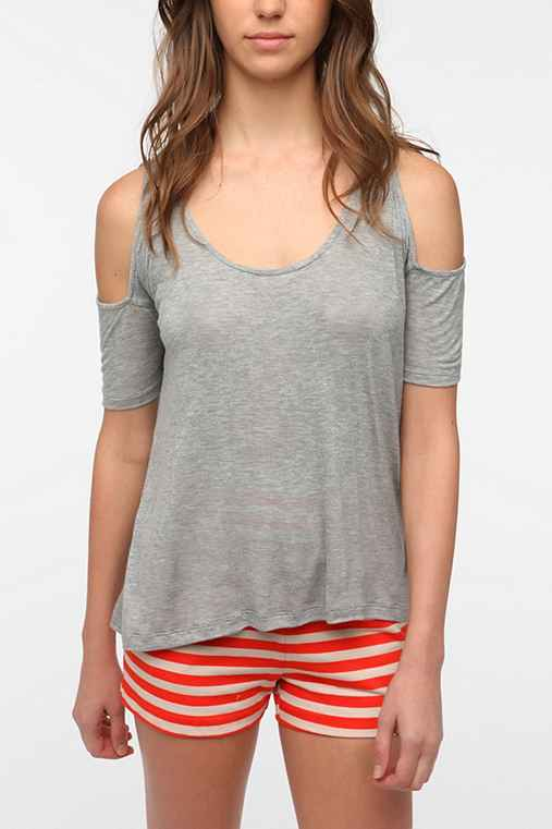 Daydreamer LA Fitted Sleeve Cold Shoulder Tee