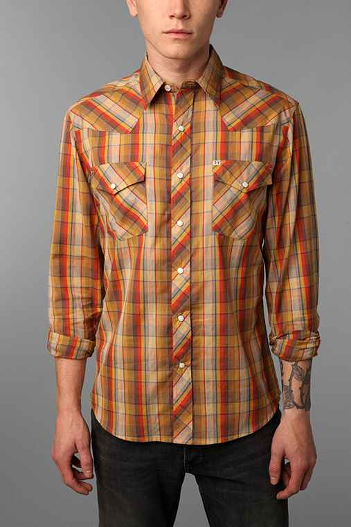 Salt Valley Chuckles Plaid Western Shirt