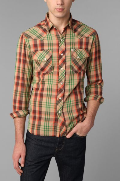 Salt Valley Plaid Western Shirt