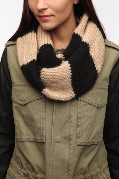 Cooperative Striped Snood Scarf