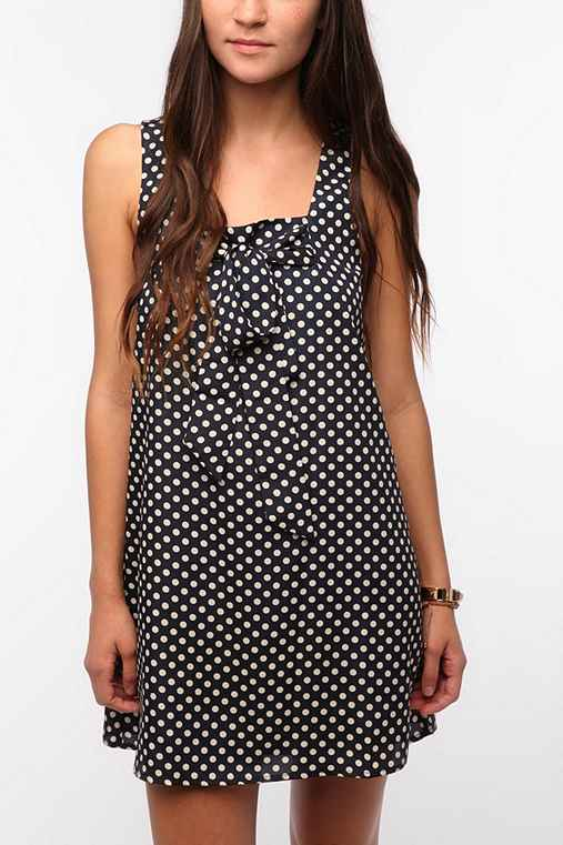 Coincidence & Chance Tie Top Polka Dot Dress