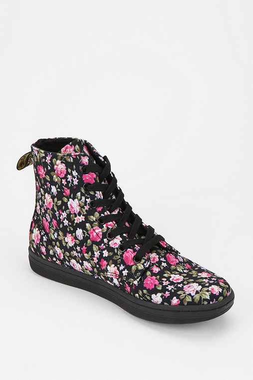 Dr. Martens Hackney Floral Canvas High-Top Sneaker