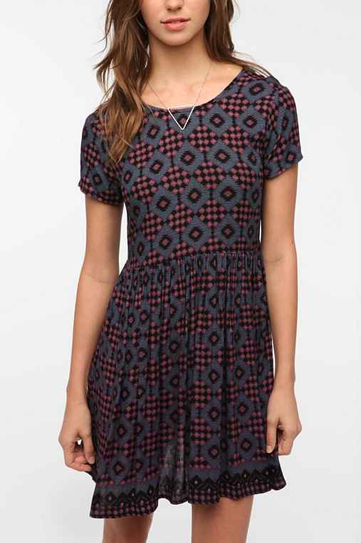Pins and Needles Lace Up Back Babydoll Dress from urbanoutfitters.com