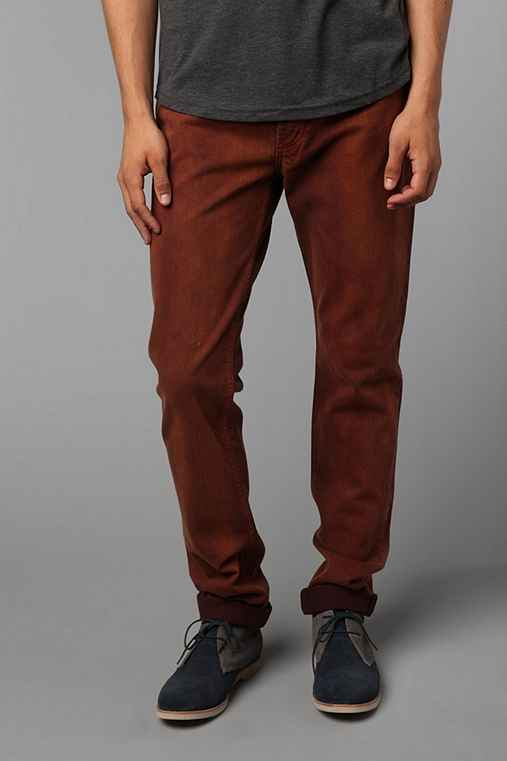 Thvm Tapered Burgundy Dye Jean