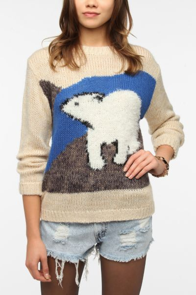 Pins And Needles Flocked Wildlife Pullover