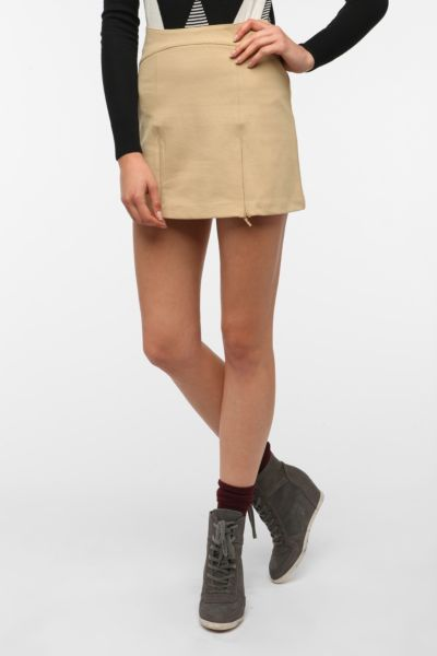 Cooperative Zip-Tastic Ponte Knit Mini Skirt