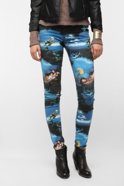 Tripp NYC Deep Blue Sea Mermaid Skinny Jean