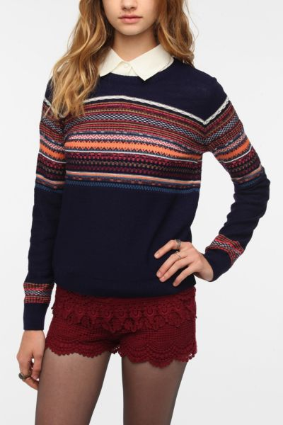 Pins and Needles Reverse Fair Isle Sweater