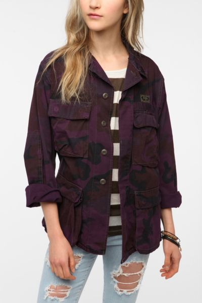 Urban Renewal Over-Dyed Camo Jacket