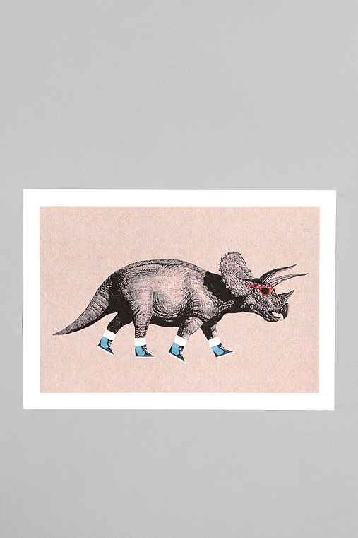 Thumbnail image for Chase Kuntz For Society6 Triceratops Print