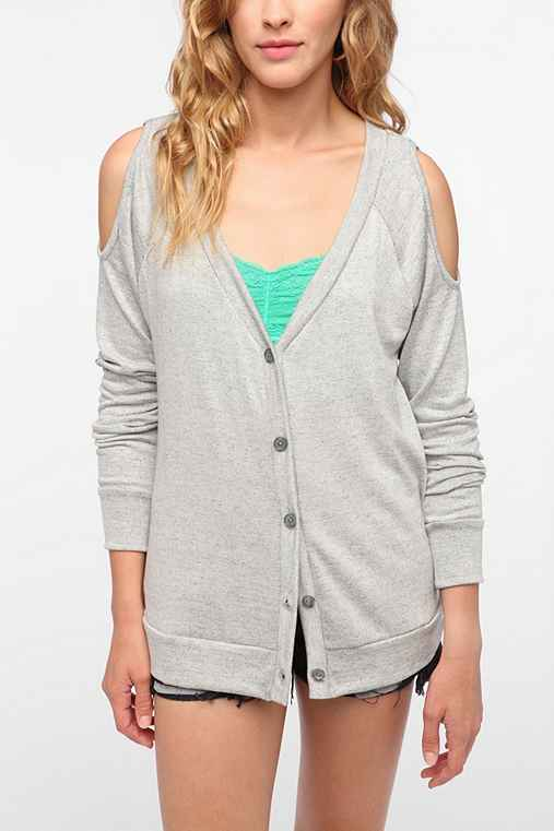 Daydreamer LA Cold Shoulder Knit Cardigan