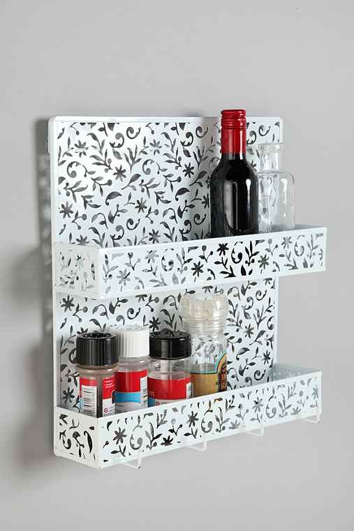 Thumbnail image for Floral Cutout Spice Rack
