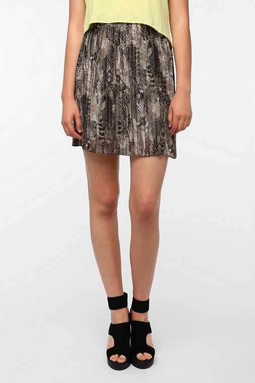 BB Dakota Cassie Pleated Printed Mini Skirt